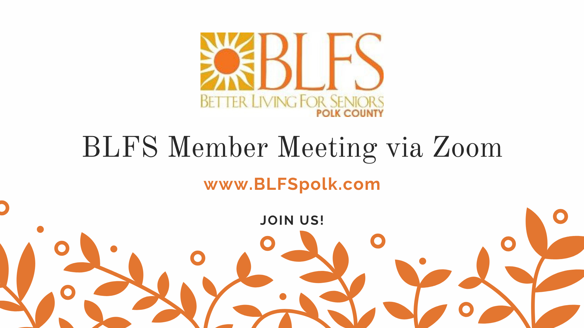 April 2021 Monthly Member Meeting - Join via Emailed Zoom Link